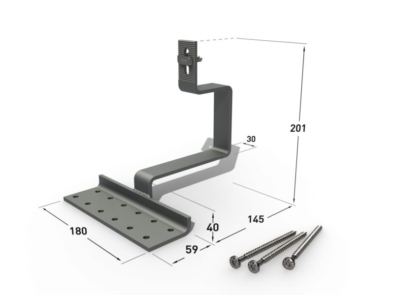 3D Produktvisualisierung - Rendering of Solar mounting systems