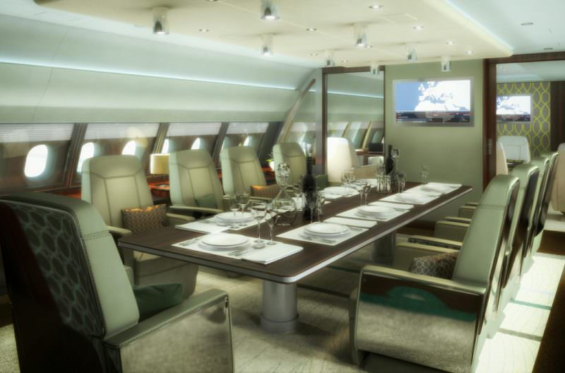 Airplane Interiors - 3D Visualisierung - Flugzeug-Interieurs
