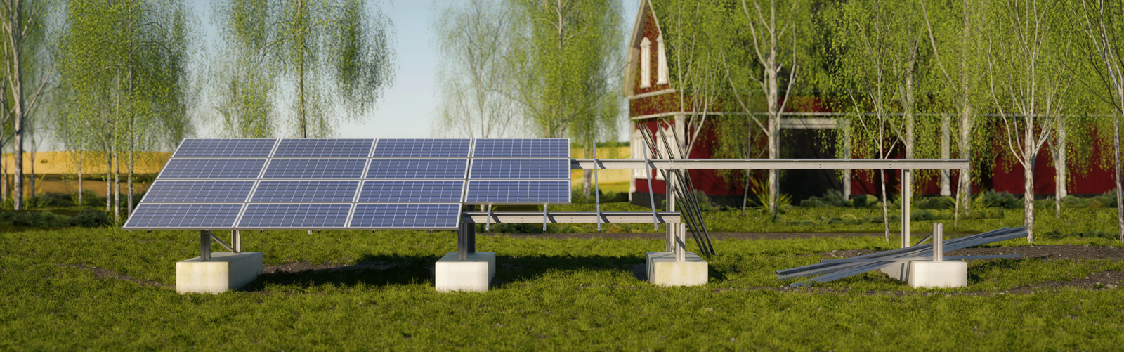 3D Visualisierung - Solar Ground Mounting Systems